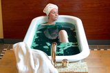 Luxusbadewanne im Beauty Boudoir des Arminius SPA